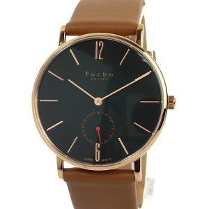 フルボ デザイン 腕時計 クォーツ FREE NOTE F01-PGRLB メンズ ピンクゴールド/グリーン LBレザー JAPAN MOVEMENT【展示品アウトレット】|pre-ma