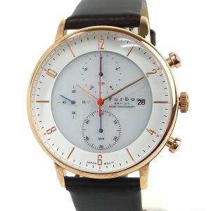 フルボ デザイン 腕時計 ソーラー クロノグラフ F761-PWHDB メンズ  ホワイト/ダークブラウン JAPAN MOVEMENT【展示品アウトレット】|pre-ma