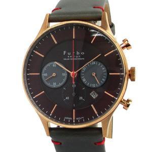 フルボ デザイン 腕時計 ソーラー クロノグラフ F751-PBRGY メンズ  ブラウン/グレー JAPAN MOVEMENT【展示品アウトレット】|pre-ma