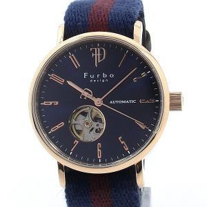 フルボ デザイン 腕時計 自動巻 F2001PNVRD メンズ コットン/レザーベルト JAPAN MOVEMENT【アウトレット】|pre-ma
