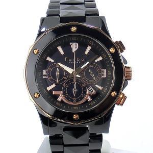 フルボ デザイン 腕時計 ソーラー FS302CPG 45mm クロノグラフ ブラック セラミック メンズ Furbo Design 【アウトレット】|pre-ma