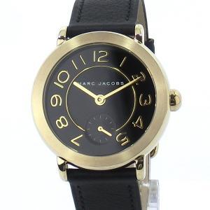 【アウトレット訳あり】マークジェイコブス レディース腕時計 MJ1471 Riley 36mm ゴールド/ブラック レザー|pre-ma