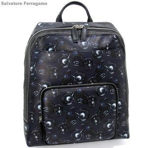 フェラガモ リュック サック/バックパック メンズ 240343 0661191 Ferragamo DEEP BLUE 新品 決算SSP|pre-ma