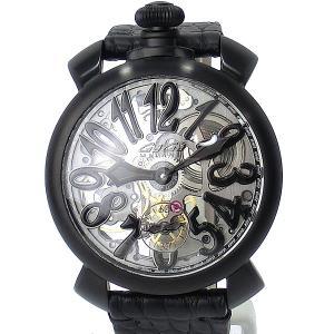 ガガミラノ GaGa MILANO 腕時計 5312.01 MANUALE 48MM スケルトン ブラック【新品アウトレット】|pre-ma