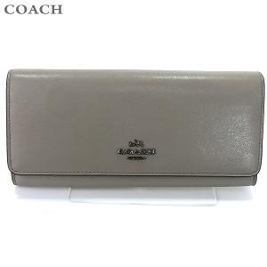 コーチ COACH  長財布 二つ折り 53887 DKFOG/グレー系 118127 【アウトレット】|pre-ma