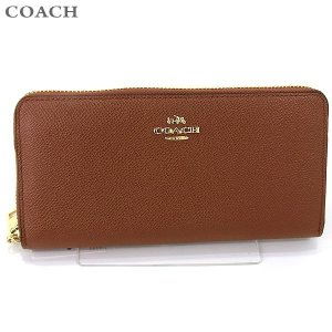 コーチ COACH  長財布 ラウンドファスナー 52372 LISAD 118117 ブラウン/ブラック アウトレット|pre-ma