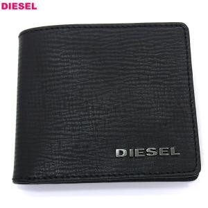 ディーゼル DIESEL 二つ折り財布 短財布 X03456 P0685 T8013  ブラック メンズ アウトレット特価品
