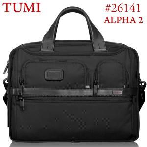 TUMI トゥミ  ビジネスバッグ/ブリーフケース ALPHA2 26141 D2 ブラック A4サイズ エクスパンダブル|pre-ma