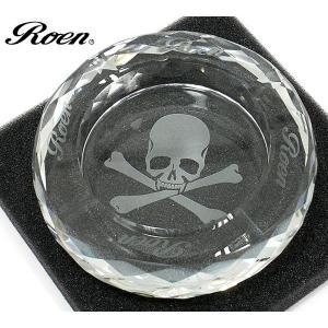 ROEN ロエン 灰皿 クリスタル ラウンド アシュトレイ スカルデザイン|pre-ma