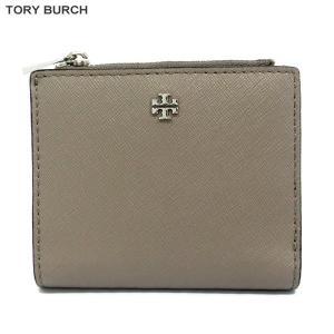 トリーバーチ TORY BURCH 財布 二つ折り ショート 11169109 036/グレイッシュ 【展示品アウトレット】|pre-ma
