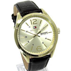 トミー ヒルフィガー TOMMY HILFIGAR 腕時計 メンズ 1791059 ゴールド・ブラウンレザー 新品特価|pre-ma