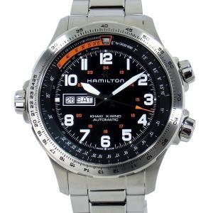 ハミルトン HAMILTON カーキ KHAKI AVIATION X-WIND  H77755133 カーキ X-ウィンド DAY DATE メンズ腕時計|pre-ma