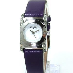 【アウトレット訳あり】フォリフォリ Folli Follie 腕時計 レディース WF8A042SPWPU パープルレザー|pre-ma