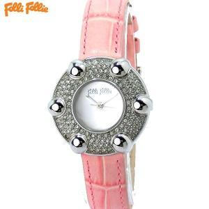 フォリフォリ Folli Follie 腕時計 レディース WF5T016SPSSP ピンクレザー ギフトバッグ付|pre-ma