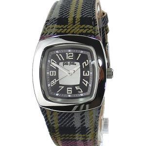 フォリフォリ Folli Follie 腕時計 クォーツ WF4T104SRSSMG タータンチェック レザー 【アウトレット決算セール】|pre-ma