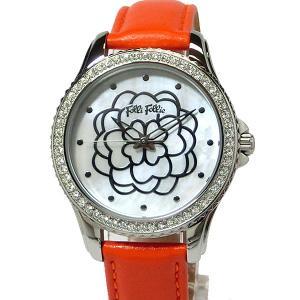 フォリフォリ Folli Follie 腕時計 レディース WF15A034SPW-OR オレンジレザー|pre-ma