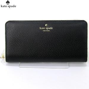 ケイトスペード KATE SPADE 長財布 ラウンドファスナー PWRU4938 067 ブラック LACY 【アウトレット-F05】|pre-ma