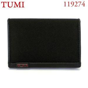 TUMI トゥミ  カードケース/パスケース 119274 DID ブラック MULTI WINDOW CARD CASE|pre-ma