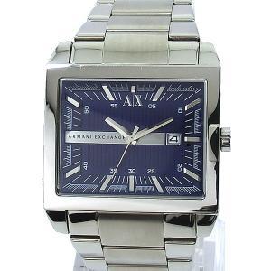 【アウトレット訳あり】アルマーニ エクスチェンジ 腕時計 AX2210 スクエア ネイビー ステンレス|pre-ma