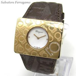 フェラガモ レディース 腕時計 ゴールド ダイヤ F65LB...