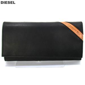 ディーゼル DIESEL 長財布 二つ折り X03608 PR227 T8013/ブラック メンズ アウトレット特価品|pre-ma