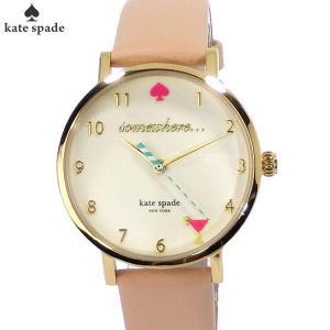 ケイトスペード kate spade 腕時計 レディース 1YRU0484 METRO HAPPY HOUR ピンクレザー|pre-ma
