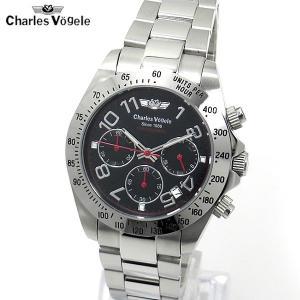シャルルホーゲル CHARLES VOGELE 腕時計 クロノグラフ CV-9067-3 LIMITED EDITION|pre-ma