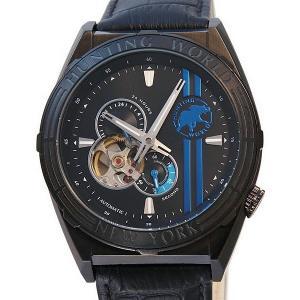 ハンティングワールド メンズ 腕時計 HW994BBL 自動巻 アディショナルタイム ブラック 正規品|pre-ma