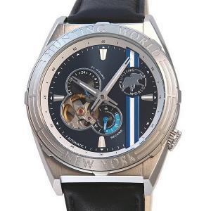 ハンティングワールド メンズ 腕時計 HW994SBL 自動巻 アディショナルタイム シルバー 正規品|pre-ma
