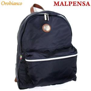 オロビアンコ リュックサック/バックパック MALPENSA-C BLU-SCURO/ネイビー COGNAC Orobianco|pre-ma