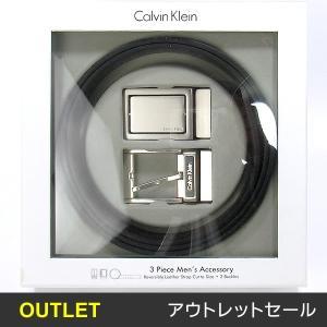 【アウトレット箱不良-S】カルバンクライン リバーシブルベルト 74203  ブラック/ブラウン 替えバックル付 CALVIN KLEIN|pre-ma