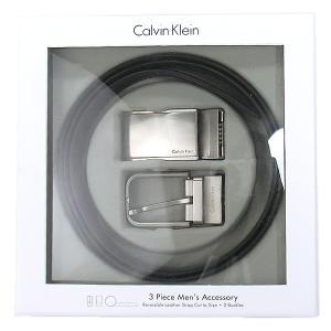 【アウトレット特価-S】カルバンクライン リバーシブルベルト 74140  ブラック/ブラウン 替えバックル付 CALVIN KLEIN|pre-ma