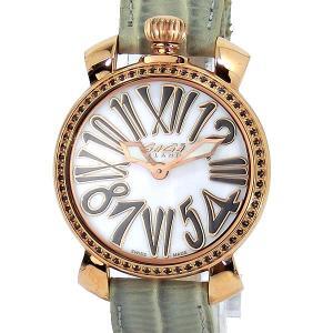 ガガミラノ GaGa MILANO レディース 腕時計 6026.03 MANUALE 35MM STONES GOLD PLATED グレー 【アウトレット展示品】|pre-ma