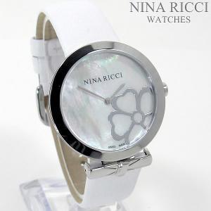 ニナリッチ NINA RICCI  腕時計 レディース NR043017 ホワイト レザー スイス製 pre-ma