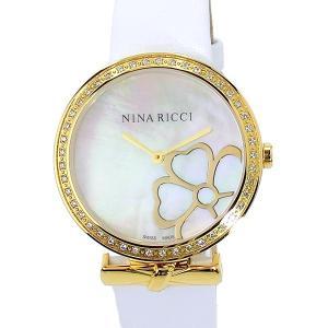 ニナリッチ NINA RICCI  腕時計 レディース 43020SM イエローゴールド/ホワイト スイス製 限定1点|pre-ma
