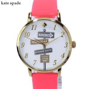 ケイトスペード kate spade 腕時計 レディース KSW1127 METRO ピンクレザー【アウトレット展示品】|pre-ma