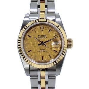 TUDOR チュードル レディース 腕時計 デイト 25mm モザイク 92413 CH シルバー/YGコンビ 自動巻|pre-ma