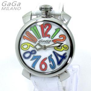 ガガミラノ GaGa MILANO 腕時計 5020.1 MANUALE 40MM マルチインデックス/ホワイトレザー|pre-ma