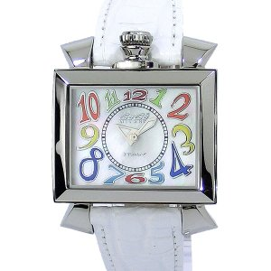 ガガミラノ GaGa MILANO 腕時計 ナポレオーネ 6030.1 ホワイトレザー レディース|pre-ma