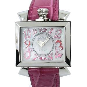 ガガミラノ GaGa MILANO 腕時計 ナポレオーネ 6030.6 ピンクレザー レディース|pre-ma