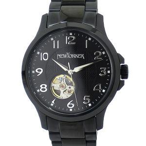 ニューヨーカー NEWYORKER メンズ 腕時計 自動巻き NY005.00 JUSTIS ブラック 【アウトレット特価】|pre-ma