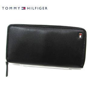 【アウトレット特価】トミーヒルフィガー 長財布/ラウンドジップ ブラック/BK レザー  31TL13X009 4691