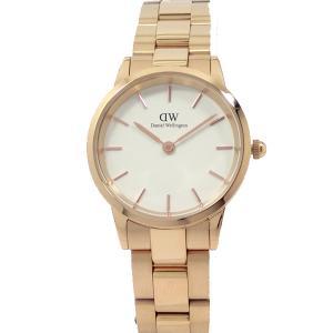 ダニエルウェリントン 腕時計 28mm Iconic Link DW00600213 ローズゴールド/ホワイト Daniel Wellington 新品|pre-ma