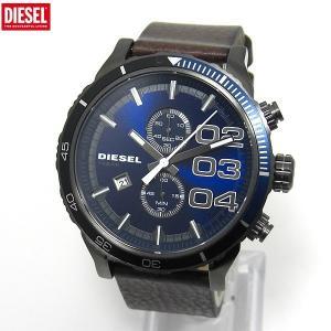 DIESEL ディーゼル 腕時計 メンズ DZ4312 クロノグラフ ネイビー レザー 新品|pre-ma