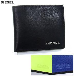 ディーゼル DIESEL 財布 二つ折り X03363 PR013 ブラック メンズ レザー 新品