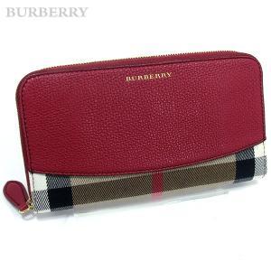 BURBERRY バーバリー 長財布 ラウンドファスナー 3975333 60780 RUSSETレッド  ハウスチェック サルトリアル BOX入り|pre-ma