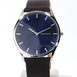 SKAGEN スカーゲン 腕時計 メンズ SKW6237 HOLST ホルスト 40mm  ネイビー/ブラウンレザー 【アウトレット展示品】|pre-ma