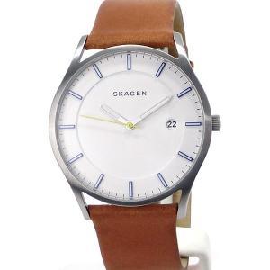 SKAGEN スカーゲン 腕時計 メンズ SKW6282 HOLST ホルスト 40mm  ホワイト/ライトブラウンレザー 【アウトレット展示品】|pre-ma
