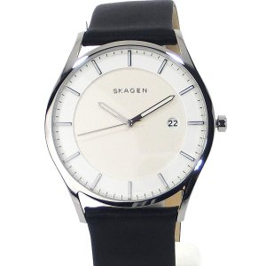 SKAGEN スカーゲン 腕時計 メンズ SKW6283 HOLST ホルスト 40mm  シルバー/ブラックレザー 【アウトレット展示品】|pre-ma