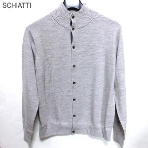 SCHIATTI スキャッティ ニット カーディガン/セーター 632116 グレー メンズ Biella Yarn ウール100%